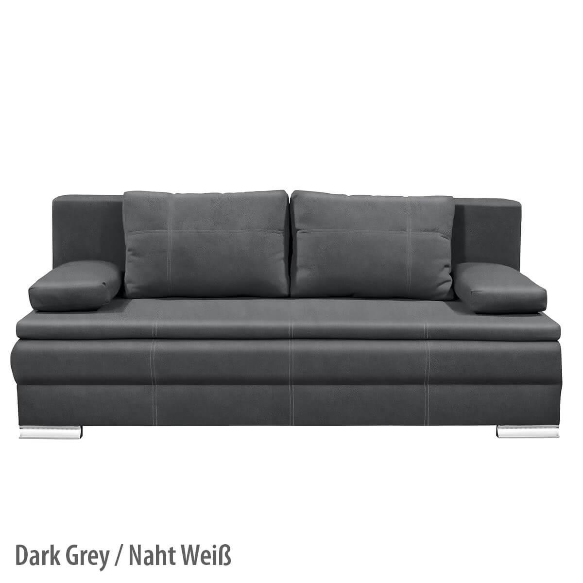Lövgren Soft Schlafsofa Ansicht Dark Grey/Weiß Beschriftet