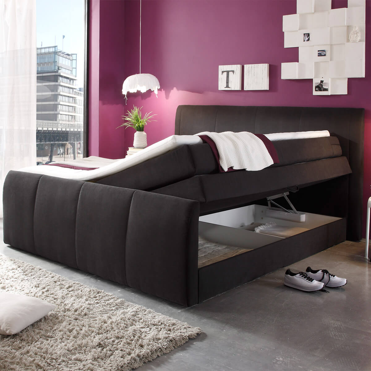 boxspringbett online kaufen dormando. Black Bedroom Furniture Sets. Home Design Ideas