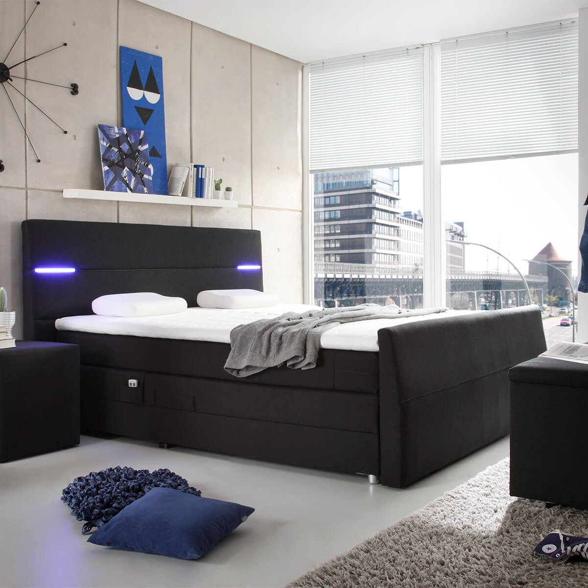 betten g nstig online kaufen dormando. Black Bedroom Furniture Sets. Home Design Ideas